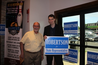 Dave with Campaign Manager Gary DePalma